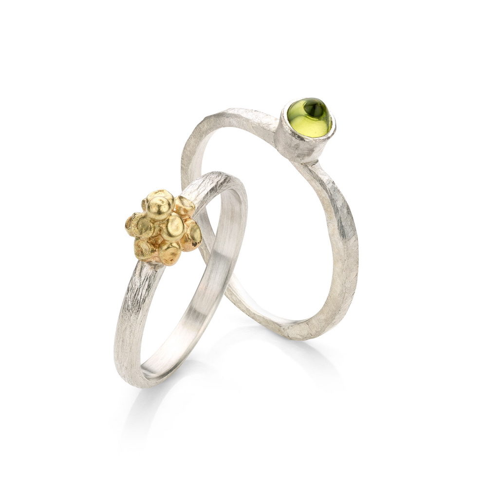 Rings bunch and peridot